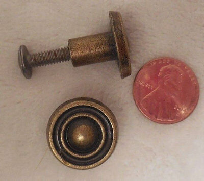 Vtg Brass Plate Drawer, Cabinet Knob, 1 inch, Salvaged Reclaimed, Have Many More