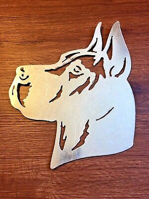 Metal Great Dane silhouette dog Art Wall Decor for Home, cabin or Lodge