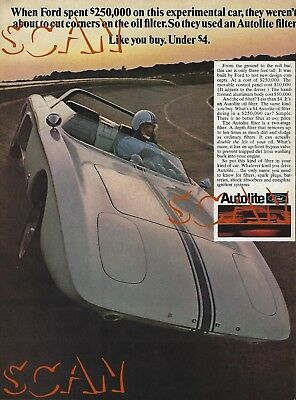 1968 Autolite Vintage Magazine Ad 1962 Ford Mustang I Concept Car Roadster 68 1