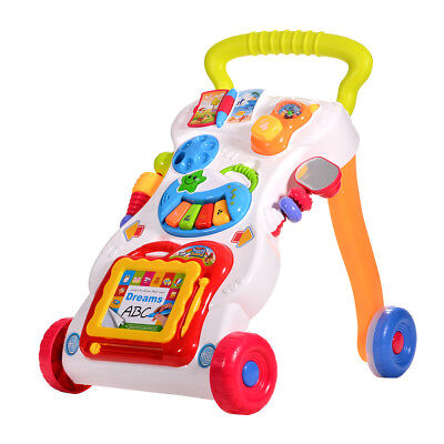 Baby Activity Sit-to-Stand Learning Walker Baby Musical Walker First Steps Tool
