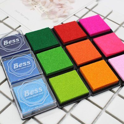 20 Colors/Set DIY Colorful Craft Ink pad Handmade Scrapbook Photo Stamps Toys LM