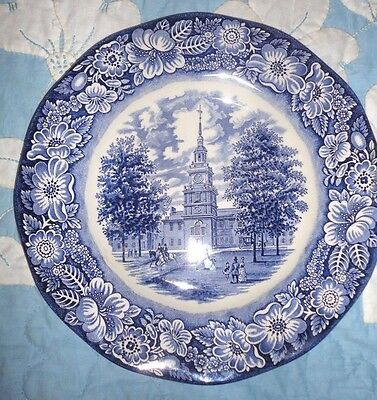 Vintage Collector Plate Liberty Blue Independence Hall