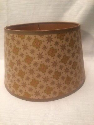 Vintage Mid Century Round Paper Small Lamp Shade With  Star Prints