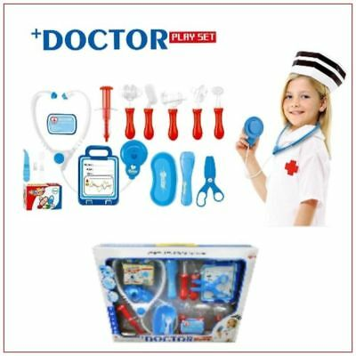 Medical Doctor Hospital Kit Playset for Kids 16 Pretend Play Tools Toy Set gift