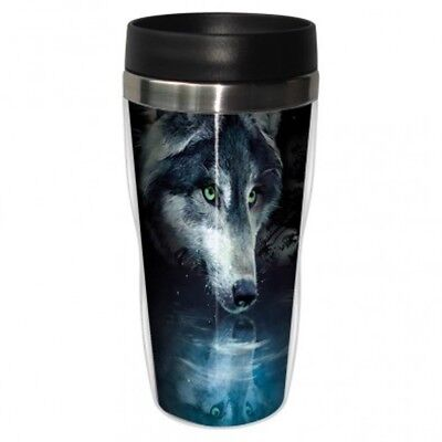 Tree Free Mug 47cl (470ml) Travel Tumbler Wolf Reflection. Shipping Included