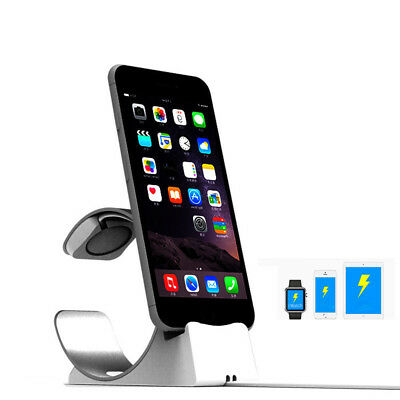 Aluminum Dock Stand Bracket Charging Holder For Apple Watch iWatch For iPhone X