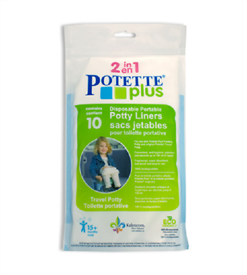 Disposable portable potty liners for the 2-in-1 Potette Plus