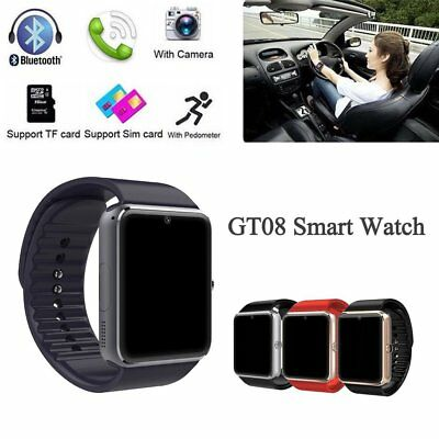 GT08 Bluetooth Smart Watch Phone Wrist Watch For Samsung and iOS iPhone LOT GT
