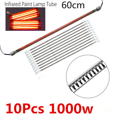 10PCS Lamp Tubes Spray/Baking booth Infrared Paint Curing Heating Lamp 1000W