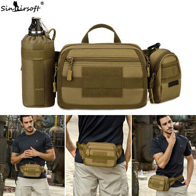 Military Tactical Fanny Pack MOLLE Waist Bag 3 Way Carry Utility Crossbody Pouch