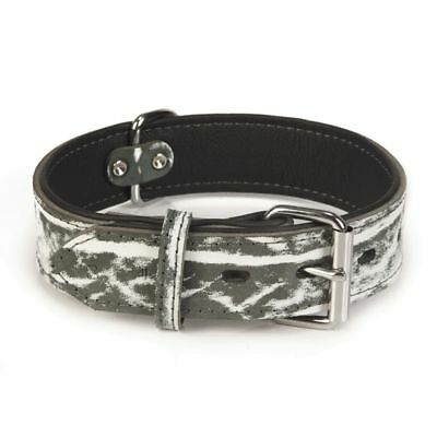 Beeztees Collare Collarino per Cani Cane Morbido Safari in Pelle 45mm 51,5-64 cm