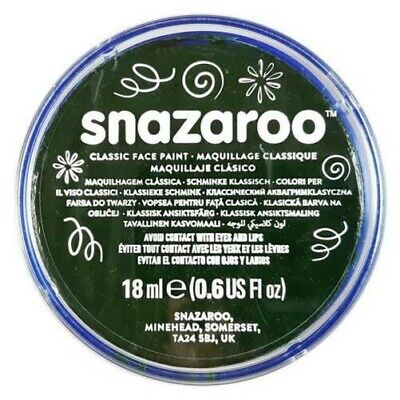 SALE Professional Classic SNAZAROO Face & Body Paint Make Up Colours 18ml