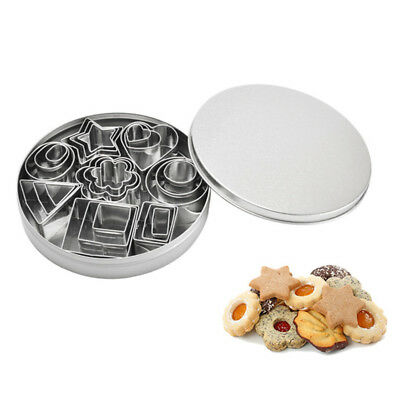 24 PCS Stainless Steel Cake Biscuit Cookie Cutter Mold DIY Baking Pastry Tool
