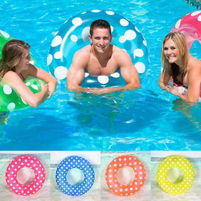 Colorful Inflatable Swim Ring Wave Point PVC Pool Kids/Adults Accessories