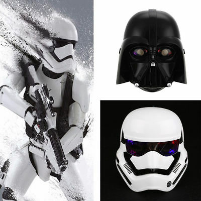 Star Wars LED Darth Vader Mask Helmet Halloween Cosplay Party Funny Dress
