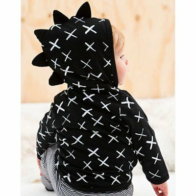 Cotton Baby Boys Clothes Dinosaur Zipper Hoodie Cross Printed Long Sleeve Coat