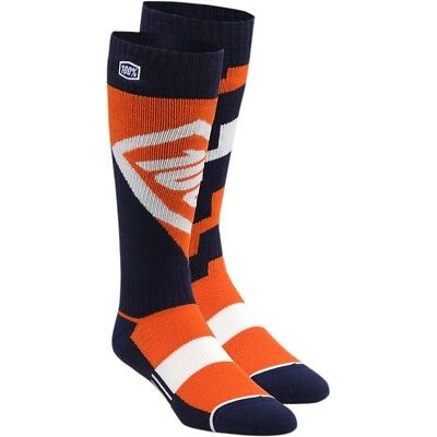 100% Torque Moto Socks Motocross Enduro Strümpfe Socken orange/blau/weiß