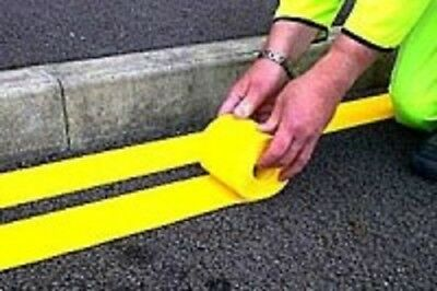 Yellow Line Road Thermoplastic marking (100 mm yellow)