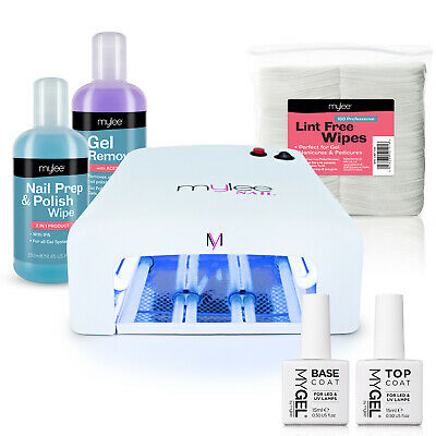 Mylee Mygel Kit UV Lamp Nail Dryer Soak-Off Gel Nail Polish Manicure Gift Set