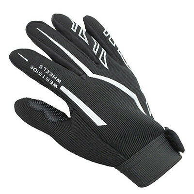Fashion Mens Full Finger Sport Gloves Exercise Fitness Gym Workout Black