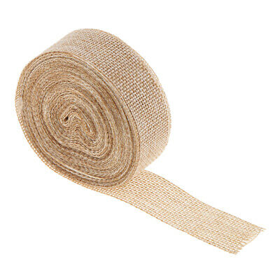 Natural Burlap Roll Rustic Hessian Jute Ribbon Wedding Decor DIY Crafts 10m