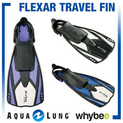 Aqua Lung Sport Flexar Travel Fins Flippers Swimming Diving Snorkel By Technisub