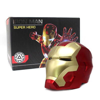 Iron Man Cosplay Helmet Mask Touch Sensing Mask with LED Light Super Hero Series