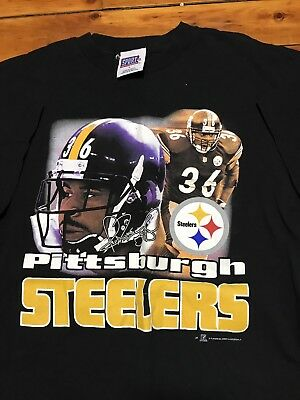 Vtg 2002 Pittsburgh Steelers NFL Football Jerome Bettis The Bus T-Shirt Sz  Large d298296ac