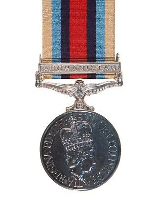 Official  Afghanistan Miniature Medal , OSM , with Clasp Bar and Ribbon -Herrick