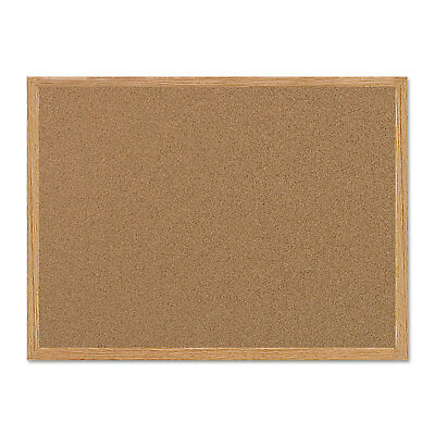MasterVision Value Cork Bulletin Board with Oak Frame 24 x 36 Natural