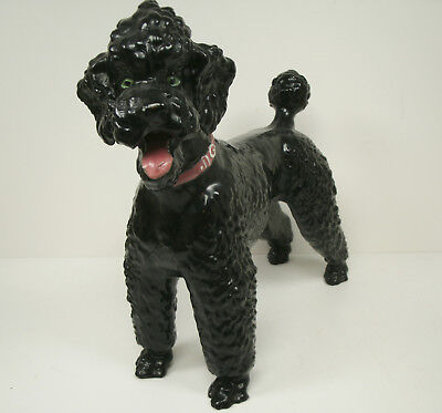 Breyer Black Poodle Dog with with Collar