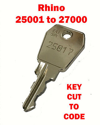 2 x RHINO PIPE TUBE REPLACEMENT KEY CUT TO YOUR CODE, PROFESSIONAL LOCKSMITH