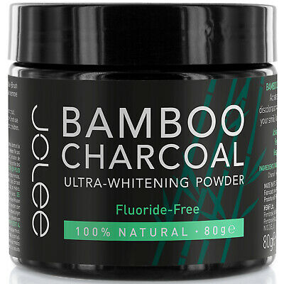 JoLee Bamboo Activated Charcoal Teeth Tooth Whitening Powder Toothpaste Mint 80g