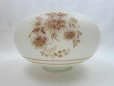 Ceiling Globe Shade Frosted Glass Brown Floral