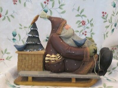 """Willieraye Studio 2002 """"Extra Special Delivery"""" WW2404 Retired Santa on a Sleigh"""