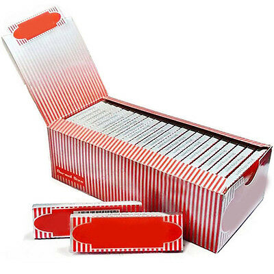 EG_ 1 Box 50 Booklets Moon Red Cigarette Tobacco Rolling Papers 2500 Leaves Witt