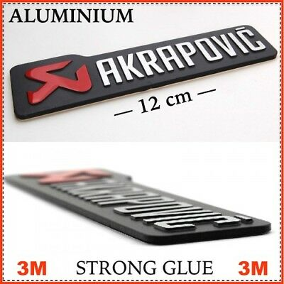 AKRAPOVIC Exhaust sticker - SILVER - METAL and Self Adhesive