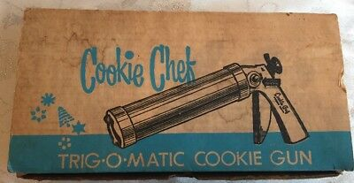 Cookie Chef Trig O Matic Cookie Gun With Thickness Control Complete In Box
