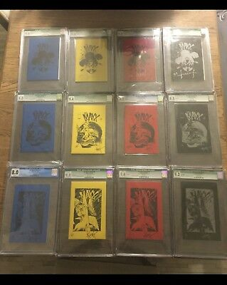The Maxx Ashcan Complete Set 1 2 3 Blue Yellow Red Black CGC