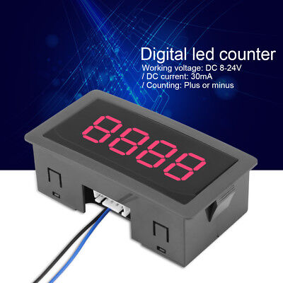 4-Digit LED Digital Counter Meter + Hall Sensor NPN Relay Output Switch 320 KHZ