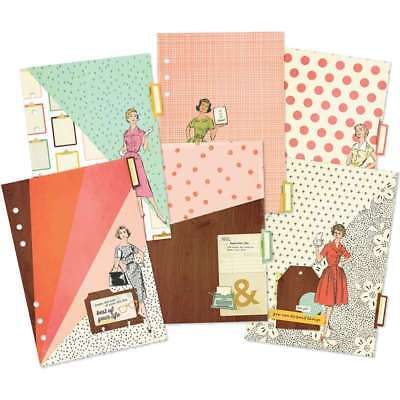 Reset Girl Double-Sided Dividers A5 6/Pkg Foil Accents 812247029405
