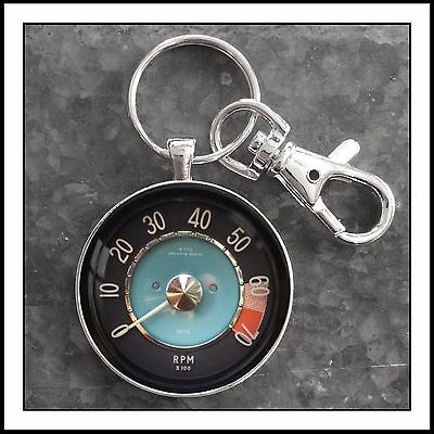 Vintage Volvo 1800 Series Tachometer Photo Keychain Father's Day Gift