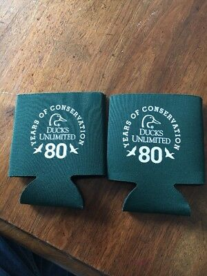 2-DUCKS UNLIMITED 80th ANNIVERSARY CAN KOOZIES! FREE SHIPPING!