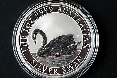 Lot of 2 - 2017 1 oz Silver Swan Coin .9999 BU  Only 25,000 minted!