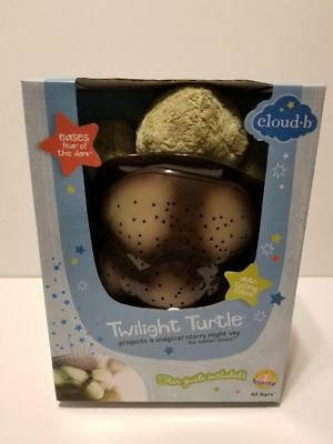 Cloud B 7323-ZZ Twilight Turtle Blue, Plush Toy Night Light Projects Actual Star