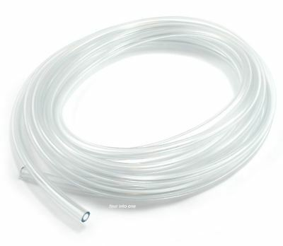 """Motion Pro Clear Motorcycle PVC Fuel Gas Line - 1/4"""" (6mm) - 5' Feet"""