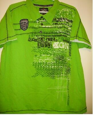 "Oxygen ""XGN Co"" Green Graphic Short Sleeve Polo -  Size XL"