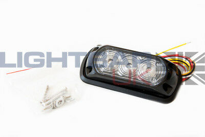 3 LED Recovery Emergency Flashing Red Grille Strobe Light Head Like Whelen