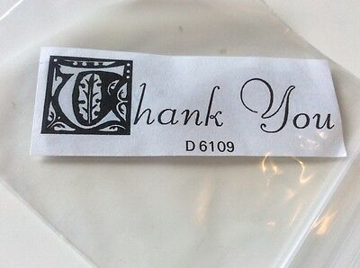 Thank You words unmounted rubber stamp