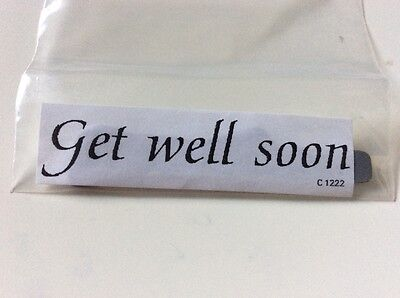 Get well soon words phrase sentiment unmounted rubber stamp